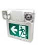 LED Running Man Sign Combo - Commercial Thermoplastic - 120/347 Volt - Self Powered for 30 Minutes - Universal Face Plate - White Color - Universal Mounting - Stanpro PRMP-2